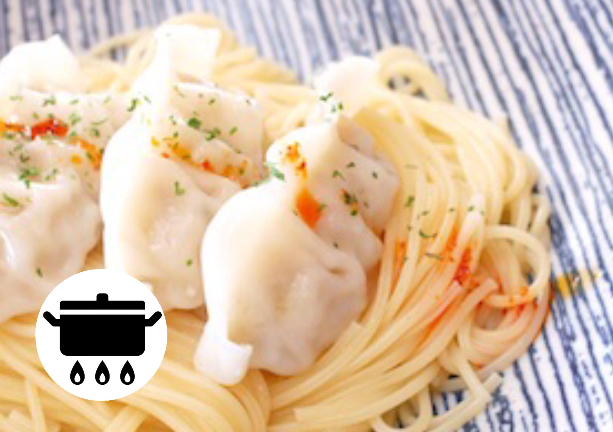 餃子ペペロンチーノのアイキャッチ